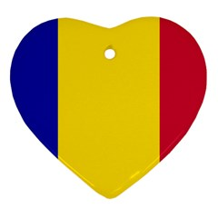 Civil Flag Of Andorra Heart Ornament (two Sides) by abbeyz71