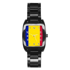 Civil Flag Of Andorra Stainless Steel Barrel Watch by abbeyz71