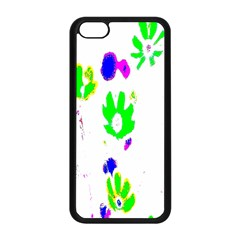 Green Flowers Pattern Apple Iphone 5c Seamless Case (black) by bywhacky