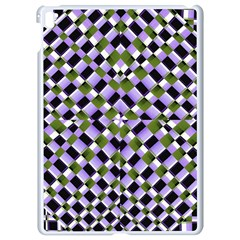 Hypnotic Geometric Pattern Apple Ipad Pro 9 7   White Seamless Case by dflcprints