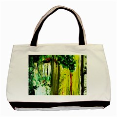 Old Tree And House With An Arch 8 Basic Tote Bag by bestdesignintheworld