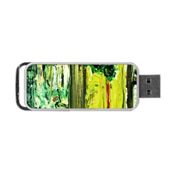 Old Tree And House With An Arch 8 Portable Usb Flash (one Side) by bestdesignintheworld