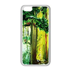 Old Tree And House With An Arch 8 Apple Iphone 5c Seamless Case (white) by bestdesignintheworld