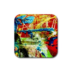 Untitled 1/1 Rubber Square Coaster (4 Pack)  by bestdesignintheworld