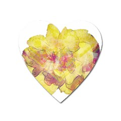 Yellow Rose Heart Magnet by aumaraspiritart
