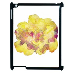 Yellow Rose Apple Ipad 2 Case (black) by aumaraspiritart