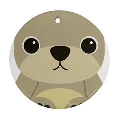 Animal Bear Cartoon Children Kids Ornament (round) by Simbadda