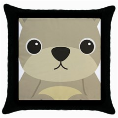 Animal Bear Cartoon Children Kids Throw Pillow Case (black) by Simbadda