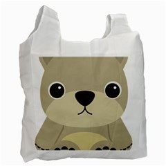 Animal Bear Cartoon Children Kids Recycle Bag (two Side)  by Simbadda