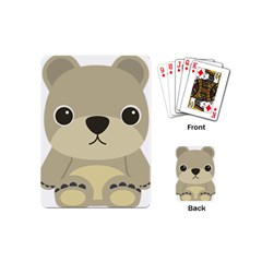 Animal Bear Cartoon Children Kids Playing Cards (mini)  by Simbadda