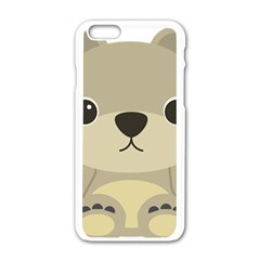 Animal Bear Cartoon Children Kids Apple Iphone 6/6s White Enamel Case by Simbadda