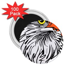 Animal Bird Cartoon Comic Eagle 2 25  Magnets (100 Pack)  by Simbadda