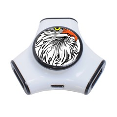 Animal Bird Cartoon Comic Eagle 3 Port Usb Hub by Simbadda