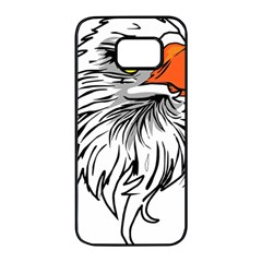 Animal Bird Cartoon Comic Eagle Samsung Galaxy S7 Edge Black Seamless Case by Simbadda