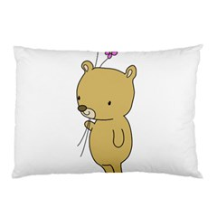 Cute Bear Cartoon Pillow Case by Simbadda