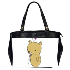 Cute Bear Cartoon Office Handbags (2 Sides)