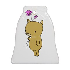 Cute Bear Cartoon Bell Ornament (two Sides) by Simbadda
