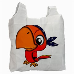 Bird Cartoon Character Parrot Recycle Bag (one Side)