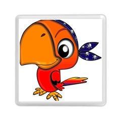 Bird Cartoon Character Parrot Memory Card Reader (square)