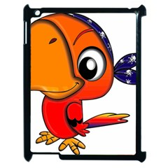 Bird Cartoon Character Parrot Apple Ipad 2 Case (black)