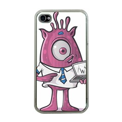 Business Education Logo Monster Apple Iphone 4 Case (clear) by Simbadda