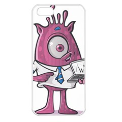 Business Education Logo Monster Apple Iphone 5 Seamless Case (white) by Simbadda
