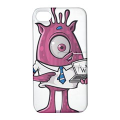 Business Education Logo Monster Apple Iphone 4/4s Hardshell Case With Stand by Simbadda