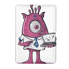 Business Education Logo Monster Samsung Galaxy Tab 2 (10 1 ) P5100 Hardshell Case  by Simbadda