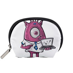 Business Education Logo Monster Accessory Pouches (small)