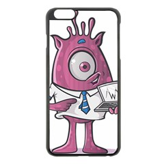 Business Education Logo Monster Apple Iphone 6 Plus/6s Plus Black Enamel Case by Simbadda