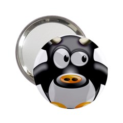 Cow Animal Mammal Cute Tux 2 25  Handbag Mirrors