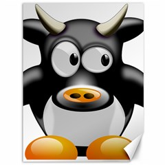 Cow Animal Mammal Cute Tux Canvas 36  X 48   by Simbadda