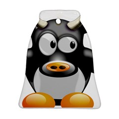 Cow Animal Mammal Cute Tux Bell Ornament (two Sides)