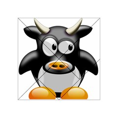 Cow Animal Mammal Cute Tux Acrylic Tangram Puzzle (4  X 4 )