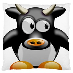 Cow Animal Mammal Cute Tux Large Cushion Case (one Side) by Simbadda