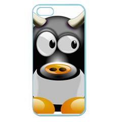 Cow Animal Mammal Cute Tux Apple Seamless Iphone 5 Case (color)