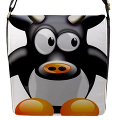 Cow Animal Mammal Cute Tux Flap Messenger Bag (s)