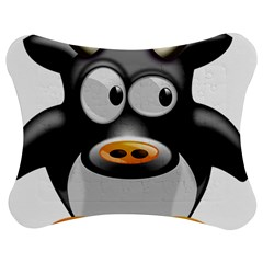 Cow Animal Mammal Cute Tux Jigsaw Puzzle Photo Stand (bow)