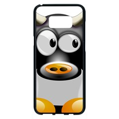 Cow Animal Mammal Cute Tux Samsung Galaxy S8 Plus Black Seamless Case