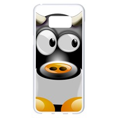 Cow Animal Mammal Cute Tux Samsung Galaxy S8 Plus White Seamless Case