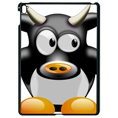 Cow Animal Mammal Cute Tux Apple Ipad Pro 9 7   Black Seamless Case