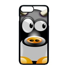 Cow Animal Mammal Cute Tux Apple Iphone 8 Plus Seamless Case (black)