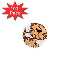 Cats Kittens Animal Cartoon Moving 1  Mini Magnets (100 Pack)