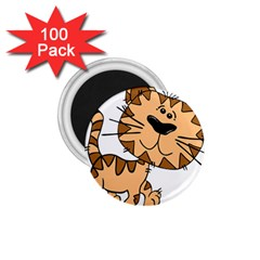 Cats Kittens Animal Cartoon Moving 1 75  Magnets (100 Pack)