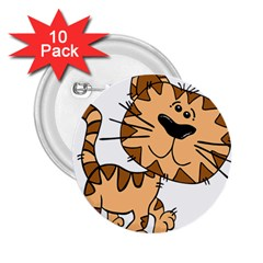 Cats Kittens Animal Cartoon Moving 2 25  Buttons (10 Pack)