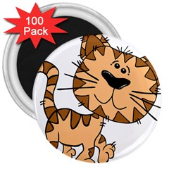 Cats Kittens Animal Cartoon Moving 3  Magnets (100 Pack)