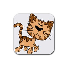 Cats Kittens Animal Cartoon Moving Rubber Coaster (square)