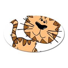 Cats Kittens Animal Cartoon Moving Oval Magnet
