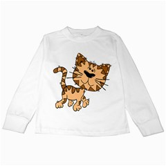 Cats Kittens Animal Cartoon Moving Kids Long Sleeve T Shirts