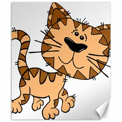 Cats Kittens Animal Cartoon Moving Canvas 8  X 10  by Simbadda